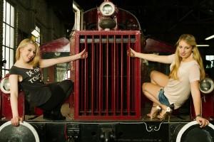 Models und Lokomotive - Fotoshooting in Würzburg