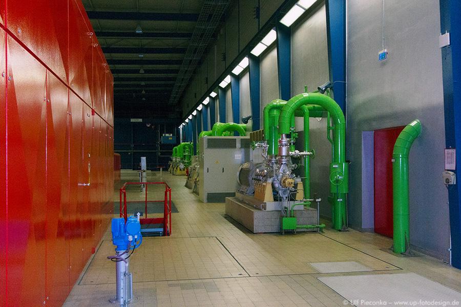 Heizkraftwerk Würzburg - innen - Industriefotografie