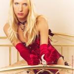 Blonde in handcuffs