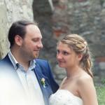 Brautpaar im Schlosshof in Rimpar