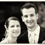 Brautpaar in schwarz-weiss