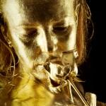 Goldfinger - Bodypainting Gold - Goldene Rose