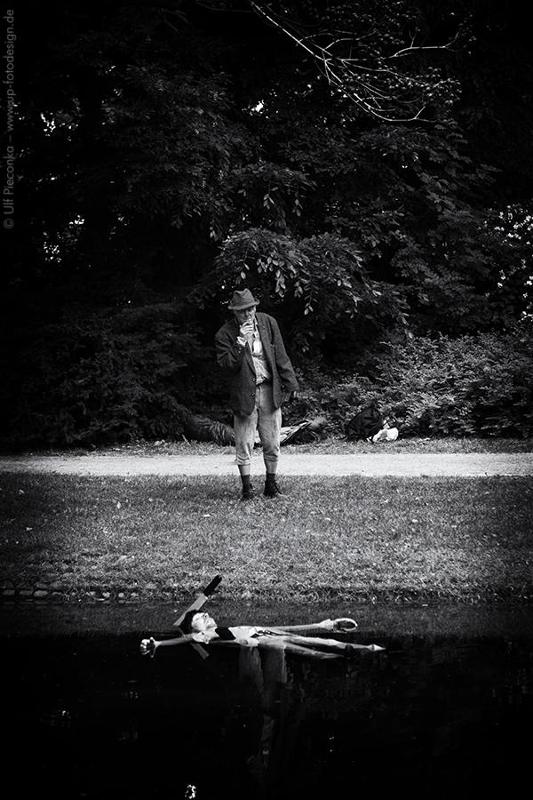 Leiche im See im Ringpark in Würzburg