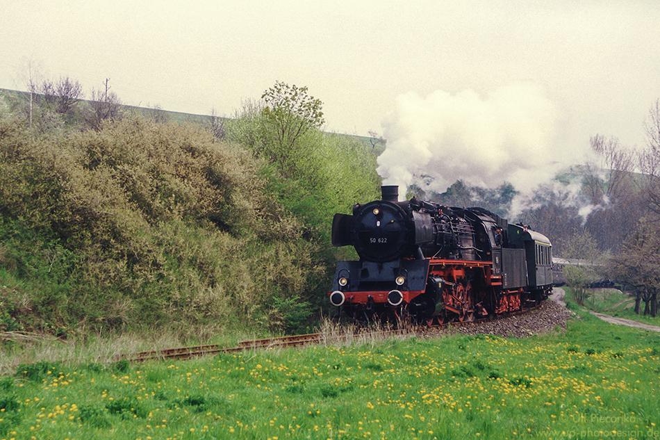 Dampflok 50 622 Sonderfahrt im Mai 1992
