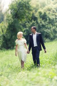 Hochzeit und Verlobung in Wuerzburg Paar-Fotoshooting bei Engagement