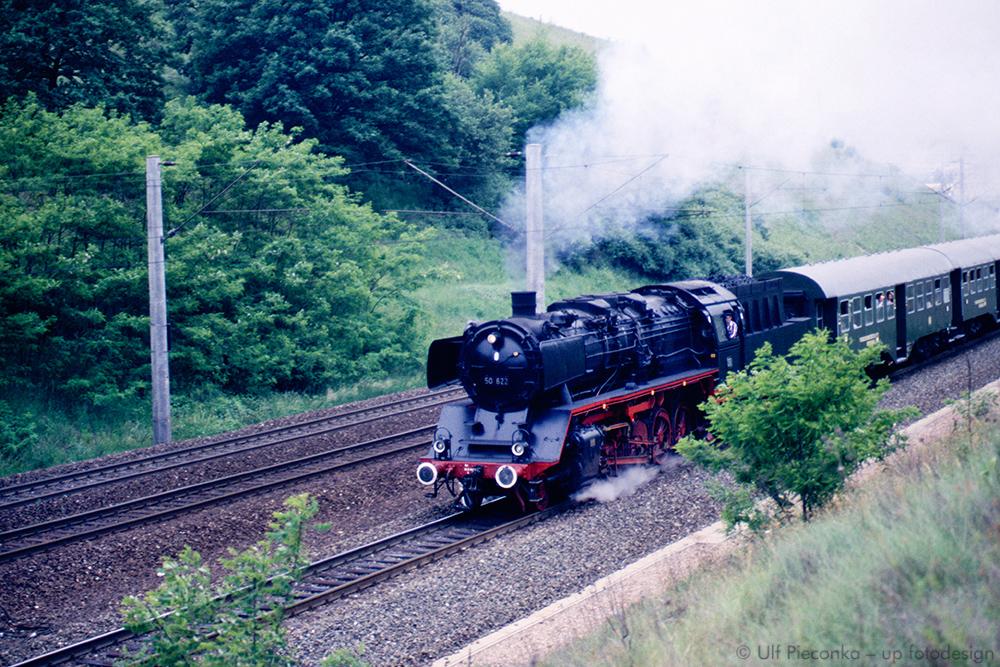 Dampflok 50 622 zwischen Würzburg und Rottendorf