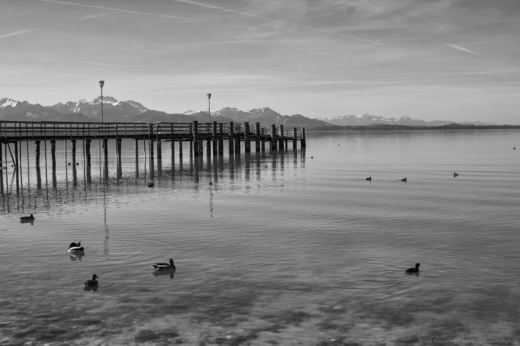 Chiemsee - Anlegesteg in Chieming