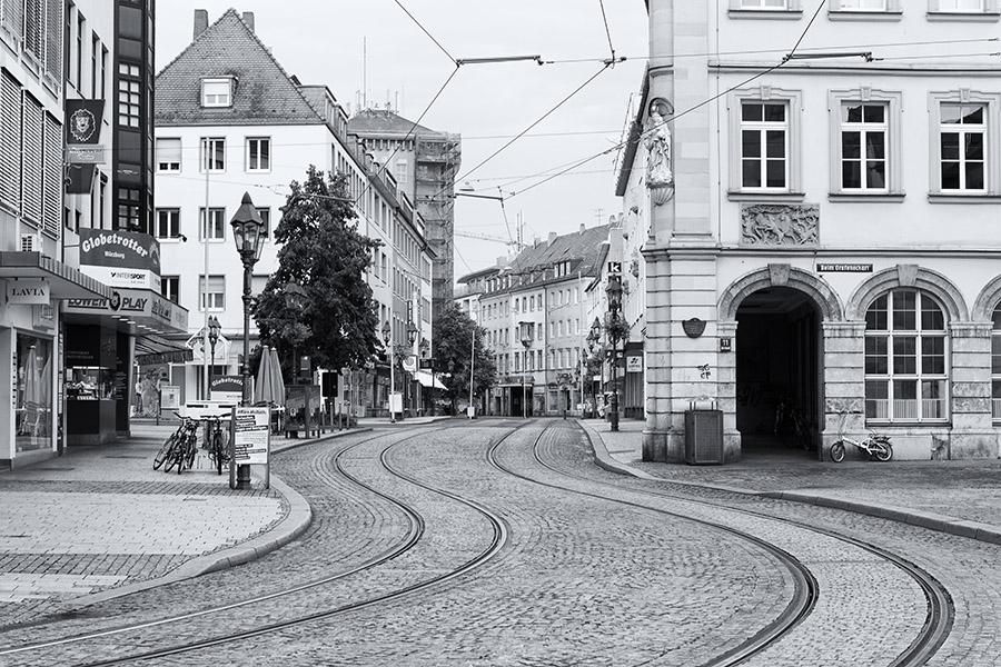 Würzburg - Augustinerstraße - menschenleer