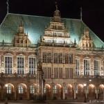 Bremen - Rathaus bei Nacht