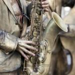 Strassenmusikfest 2011 Wuerzburg - Jazz Statues Saxophon