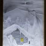 """Detail von """"Rauhnacht"""" - Glasgemälde"""