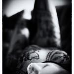 Augen - Model mit erotischer Pose - mit Fotograf Ulf Pieconka - Würzburg